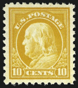 Sale Number 1068, Lot Number 281, Washington-Franklin Issues10c Orange Yellow (472), 10c Orange Yellow (472)