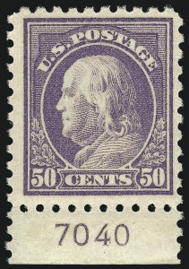 Sale Number 1068, Lot Number 284, Washington-Franklin Issues50c Light Violet (477), 50c Light Violet (477)