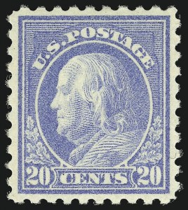 Sale Number 1068, Lot Number 286, Washington-Franklin Issues20c Light Ultramarine (476), 20c Light Ultramarine (476)