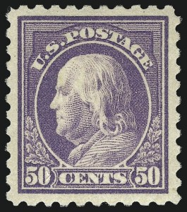 Sale Number 1068, Lot Number 287, Washington-Franklin Issues50c Light Violet (477), 50c Light Violet (477)