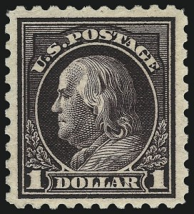 Sale Number 1068, Lot Number 288, Washington-Franklin Issues$1.00 Violet Black (478), $1.00 Violet Black (478)