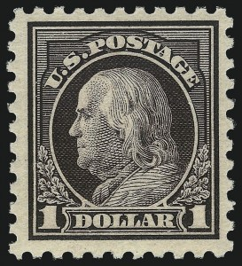 Sale Number 1068, Lot Number 289, Washington-Franklin Issues$1.00 Violet Black (478), $1.00 Violet Black (478)