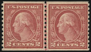 Sale Number 1068, Lot Number 292, Washington-Franklin Issues2c Carmine, Ty. II, Coil, (491), 2c Carmine, Ty. II, Coil, (491)