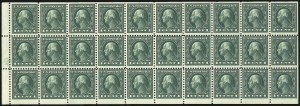 Sale Number 1068, Lot Number 293, Washington-Franklin Issues1c Green, A.E.F. Booklet Pane (498f), 1c Green, A.E.F. Booklet Pane (498f)