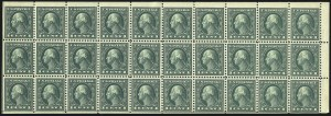 Sale Number 1068, Lot Number 294, Washington-Franklin Issues1c Green, A.E.F. Booklet Pane (498f), 1c Green, A.E.F. Booklet Pane (498f)