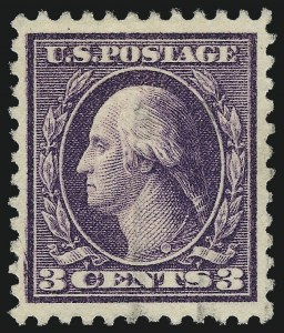 "Sale Number 1068, Lot Number 297, Washington-Franklin Issues3c Dark Violet, Ty. II, ""Kiss Print"" or ""Double Impression""? (502 or 502d?), 3c Dark Violet, Ty. II, ""Kiss Print"" or ""Double Impression""? (502 or 502d?)"