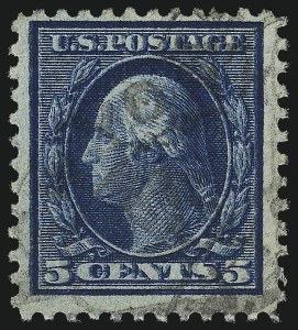 "Sale Number 1068, Lot Number 298, Washington-Franklin Issues5c Blue, ""Kiss Print"" or ""Double Impression""? (504 or 504b), 5c Blue, ""Kiss Print"" or ""Double Impression""? (504 or 504b)"