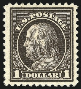Sale Number 1068, Lot Number 303, Washington-Franklin Issues$1.00 Deep Brown (518b), $1.00 Deep Brown (518b)