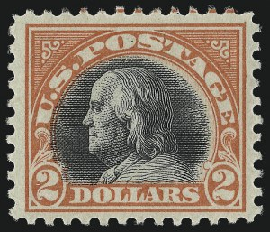 Sale Number 1068, Lot Number 304, Washington-Franklin Issues$2.00 Orange Red & Black (523), $2.00 Orange Red & Black (523)