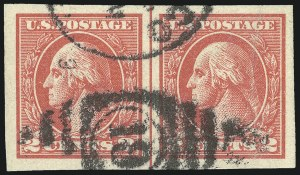 Sale Number 1068, Lot Number 309, Washington-Franklin Issues2c Carmine, Ty. VII, Imperforate (534B), 2c Carmine, Ty. VII, Imperforate (534B)