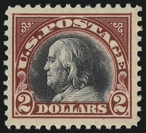 Sale Number 1068, Lot Number 314, Washington-Franklin Issues$2.00 Carmine & Black (547), $2.00 Carmine & Black (547)