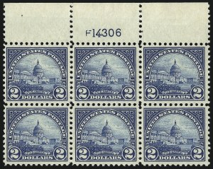 Sale Number 1068, Lot Number 318, 1922-26 and Later Issues$2.00 Deep Blue (572), $2.00 Deep Blue (572)