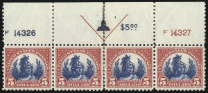 Sale Number 1068, Lot Number 319, 1922-26 and Later Issues$5.00 Carmine & Blue (573), $5.00 Carmine & Blue (573)