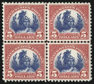 Sale Number 1068, Lot Number 320, 1922-26 and Later Issues$5.00 Carmine & Blue (573), $5.00 Carmine & Blue (573)