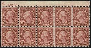 Sale Number 1068, Lot Number 322, 1922-26 and Later Issues2c Carmine, Rotary (579), 2c Carmine, Rotary (579)