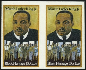 Sale Number 1068, Lot Number 337, 1922-26 and Later Issues15c Martin Luther King, Jr., Imperforate Pair (1771a), 15c Martin Luther King, Jr., Imperforate Pair (1771a)