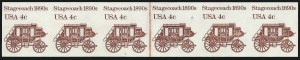 Sale Number 1068, Lot Number 340, 1922-26 and Later Issues4c Stagecoach Coil, Imperforate (1898Ad), 4c Stagecoach Coil, Imperforate (1898Ad)