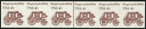 Sale Number 1068, Lot Number 341, 1922-26 and Later Issues4c Stagecoach Coil, Imperforate (1898Ad), 4c Stagecoach Coil, Imperforate (1898Ad)