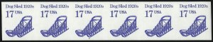 Sale Number 1068, Lot Number 351, 1922-26 and Later Issues17c Dog Sled Coil, Imperforate (2135a), 17c Dog Sled Coil, Imperforate (2135a)