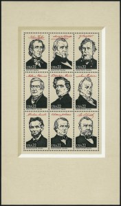 Sale Number 1068, Lot Number 355, 1922-26 and Later Issues22c Ameripex Souvenir Sheet, Black Inscriptions Omitted (2217j), 22c Ameripex Souvenir Sheet, Black Inscriptions Omitted (2217j)