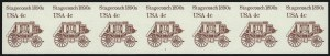 Sale Number 1068, Lot Number 358, 1922-26 and Later Issues4c Stagecoach Redesigned Coil, Imperforate (2228b), 4c Stagecoach Redesigned Coil, Imperforate (2228b)