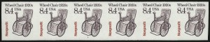 Sale Number 1068, Lot Number 359, 1922-26 and Later Issues8.4c Wheel Chair Nonprofit Coil, Imperforate (2256a), 8.4c Wheel Chair Nonprofit Coil, Imperforate (2256a)