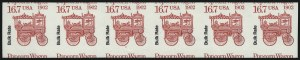 Sale Number 1068, Lot Number 360, 1922-26 and Later Issues16.7c Popcorn Wagon Bulk Rate Coil, Imperforate (2261a), 16.7c Popcorn Wagon Bulk Rate Coil, Imperforate (2261a)