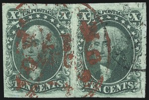 Sale Number 1068, Lot Number 37, 1851 Issue10c Green, Ty. III (15), 10c Green, Ty. III (15)