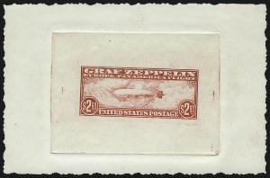 Sale Number 1068, Lot Number 395, Air Post$2.60 Graf Zeppelin Engraved Forgery, Die Proof on Wove Paper (C15F), $2.60 Graf Zeppelin Engraved Forgery, Die Proof on Wove Paper (C15F)