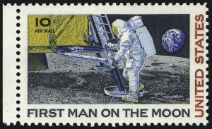 Sale Number 1068, Lot Number 398, Air Post10c Moon Landing, Rose Red (Litho) Omitted (C76a), 10c Moon Landing, Rose Red (Litho) Omitted (C76a)