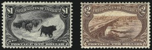 Sale Number 1068, Lot Number 485, Group Lots by Issue1c-$2.00 Trans-Mississippi (285-293), 1c-$2.00 Trans-Mississippi (285-293)