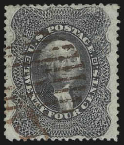 Sale Number 1068, Lot Number 54, 1857-60 Issue24c Gray Lilac (37), 24c Gray Lilac (37)