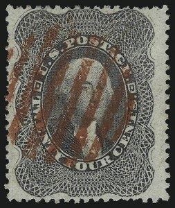 Sale Number 1068, Lot Number 55, 1857-60 Issue24c Gray Lilac (37), 24c Gray Lilac (37)