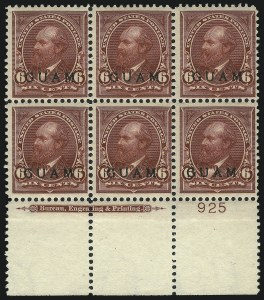 Sale Number 1068, Lot Number 714, U.S. Possessions: DWI thru GuamGUAM, 1899, 5c Lake (6), GUAM, 1899, 5c Lake (6)