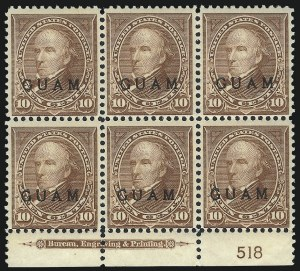 Sale Number 1068, Lot Number 717, U.S. Possessions: DWI thru GuamGUAM, 1899, 10c Brown, Ty. I (8), GUAM, 1899, 10c Brown, Ty. I (8)