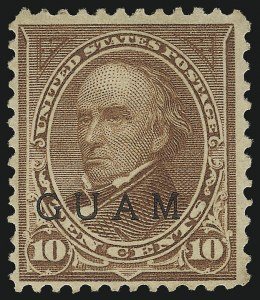 Sale Number 1068, Lot Number 718, U.S. Possessions: DWI thru GuamGUAM, 1899, 10c Brown, Ty. II (9), GUAM, 1899, 10c Brown, Ty. II (9)