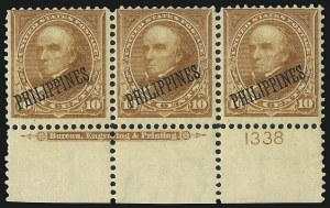 Sale Number 1068, Lot Number 728, U.S. Possessions: Philippines, thru 1926PHILIPPINES, 1899, 10c Orange Brown, Ty. II (217A), PHILIPPINES, 1899, 10c Orange Brown, Ty. II (217A)