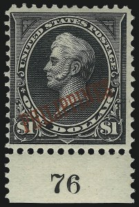Sale Number 1068, Lot Number 739, U.S. Possessions: Philippines, thru 1926PHILIPPINES, 1901, $1.00 Black, Ty. II (223A), PHILIPPINES, 1901, $1.00 Black, Ty. II (223A)