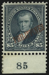 Sale Number 1068, Lot Number 741, U.S. Possessions: Philippines, thru 1926PHILIPPINES, 1901, $5.00 Dark Green (225), PHILIPPINES, 1901, $5.00 Dark Green (225)