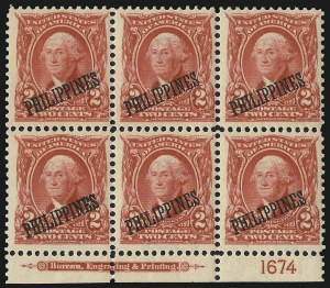 Sale Number 1068, Lot Number 744, U.S. Possessions: Philippines, thru 1926PHILIPPINES, 1903, 1c Blue Green, 2c Carmine (226-227), PHILIPPINES, 1903, 1c Blue Green, 2c Carmine (226-227)