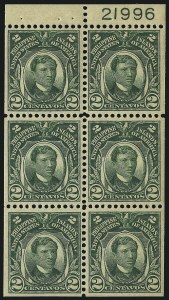 Sale Number 1068, Lot Number 759, U.S. Possessions: Philippines, thru 1926PHILIPPINES, Booklet Panes, PHILIPPINES, Booklet Panes
