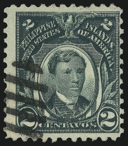Sale Number 1068, Lot Number 764, U.S. Possessions: Philippines, thru 1926PHILIPPINES, 1917, 2c Dark Green, Major Double Transfer (290a var), PHILIPPINES, 1917, 2c Dark Green, Major Double Transfer (290a var)
