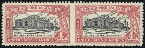 Sale Number 1068, Lot Number 767, U.S. Possessions: Philippines, thru 1926PHILIPPINES, 1926, 2c-1p Legislative Palace Issue, Horizontal Pair, Imperforate Between (319a, 320a, 321a), PHILIPPINES, 1926, 2c-1p Legislative Palace Issue, Horizontal Pair, Imperforate Between (319a, 320a, 321a)