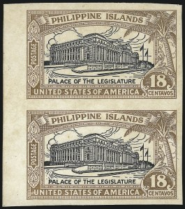 Sale Number 1068, Lot Number 770, U.S. Possessions: Philippines, thru 1926PHILIPPINES, 1926, 18c Light Brown & Black, Plate Proof on Glazed Card (322P4), PHILIPPINES, 1926, 18c Light Brown & Black, Plate Proof on Glazed Card (322P4)