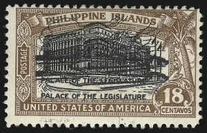 Sale Number 1068, Lot Number 771, U.S. Possessions: Philippines, thru 1926PHILIPPINES, 1926, 18c Light Brown & Black, Double Impression of Center (322a), PHILIPPINES, 1926, 18c Light Brown & Black, Double Impression of Center (322a)