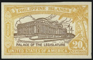 Sale Number 1068, Lot Number 774, U.S. Possessions: Philippines, thru 1926PHILIPPINES, 1926, 20c Orange & Brown, Imperforate (323c), PHILIPPINES, 1926, 20c Orange & Brown, Imperforate (323c)