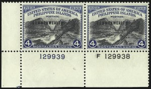Sale Number 1068, Lot Number 780, U.S. Possessions: Philippines, 1934-43PHILIPPINES, 1940, 4p Montalban Gorge (445), PHILIPPINES, 1940, 4p Montalban Gorge (445)