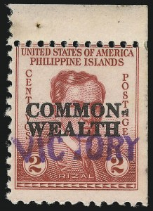 "Sale Number 1068, Lot Number 782, U.S. Possessions: Philippines, 1934-43PHILIPPINES, 1944, 2c Rose, ""Victory"" Ovpt. (463), PHILIPPINES, 1944, 2c Rose, ""Victory"" Ovpt. (463)"