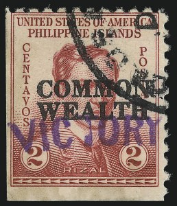 "Sale Number 1068, Lot Number 783, U.S. Possessions: Philippines, 1934-43PHILIPPINES, 1944, 2c Rose, ""Victory"" Ovpt. (463), PHILIPPINES, 1944, 2c Rose, ""Victory"" Ovpt. (463)"