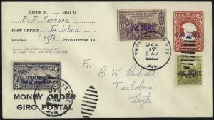 "Sale Number 1068, Lot Number 793, U.S. Possessions: Philippines, 1934-43PHILIPPINES, 1944, 8c Violet, 20c Light Olive Green, ""Victory"" Ovpt. (472, 481), PHILIPPINES, 1944, 8c Violet, 20c Light Olive Green, ""Victory"" Ovpt. (472, 481)"